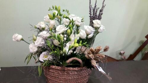 Centro flores cesta