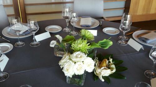 Centro flores mesas boda
