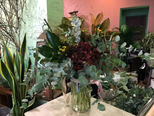 Centro flores y plantas silvestres