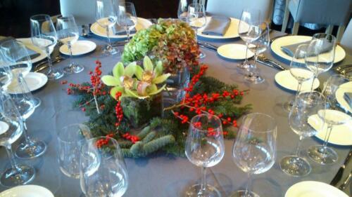 Centro mesa banquete empresas