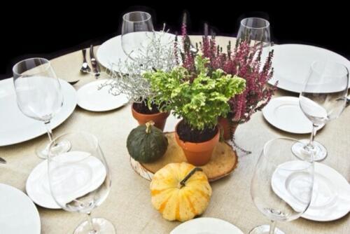 Centro mesa calabaza