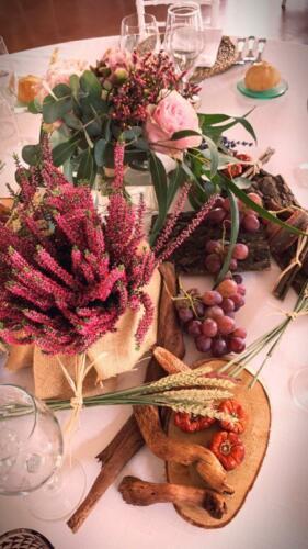 Centro mesa uvas