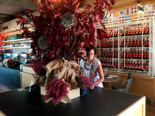 Centros flores restaurantes