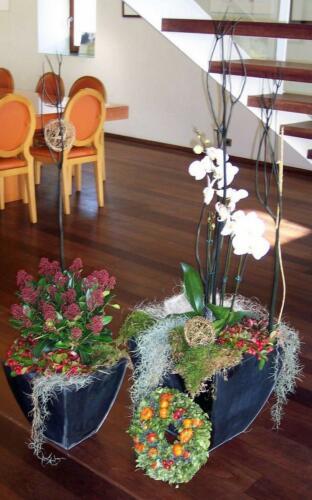 Corona flores casa