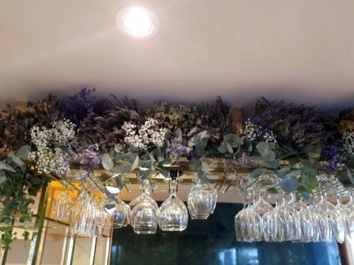 Decoracion flores copas