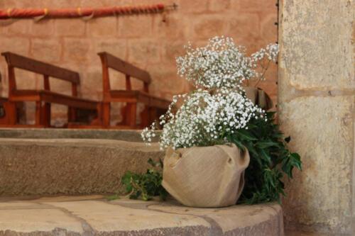 Detalle flores iglesia