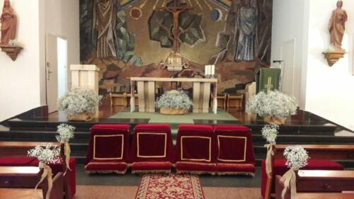 Flores altar boda