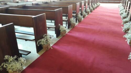 Iglesia centros flores