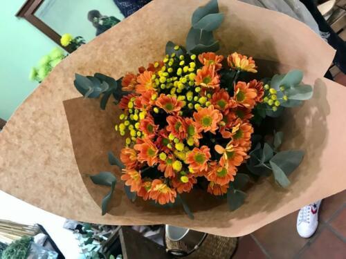 Planta flores naranjas