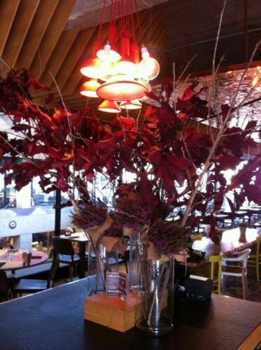 Restaurante flores decoracion