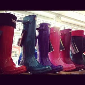 Hunter wellies at Philip Morris and Son