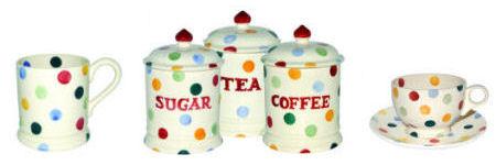 Mug, Storage Jars, Cup & Saucer