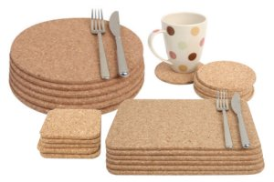T&G Cork Placemats and Coasters
