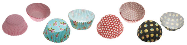 Cupcake Cases in a range of patterns and colours