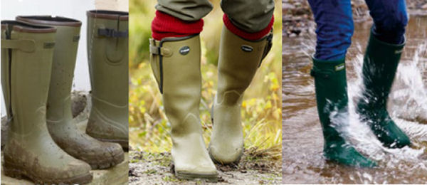 Neoprene wellies help to keep you warm and dry