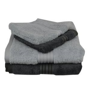 Silver and Graphite towels