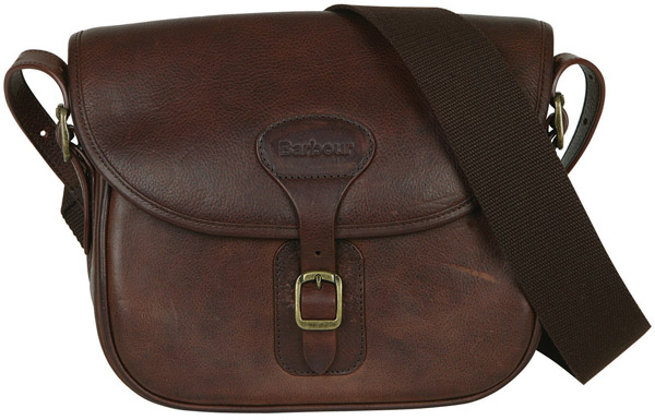 Barbour Brown Leather Cartridge Bag