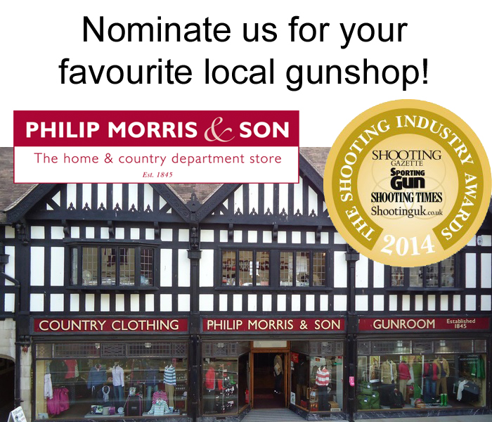 Nominate Philip Morris and Son Hereford as your favourite local gunshop!