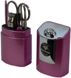 Danielle Five Piece Manicure Set in a case that comes in three colours