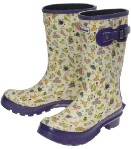 Barbour Low Print Welly in Mill Stream