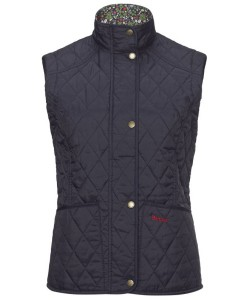 Barbour Glencove Summer Liddesdale Gilet in Navy & Nature Walk