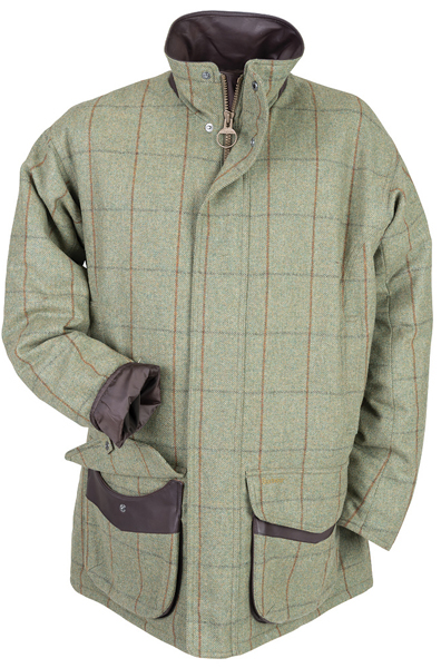 Barbour Fellmoor Tweed Jacket in Olive and Brown
