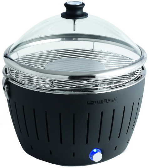 Glass hood/lid for the LotusGrill, optimum cooking with an easy watch