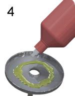 Cómo 4: vierta un gel de arranque de fuego en la bandeja de encendido