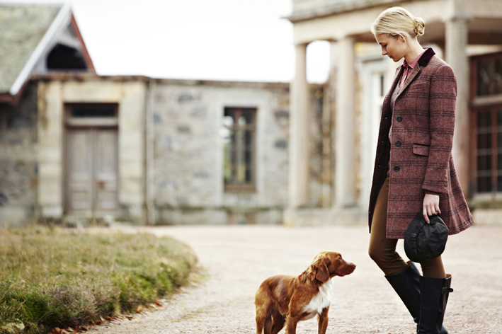 Barbour Ladies Estate Tweed Collection - Model wears the Stornoway Tweed Coat