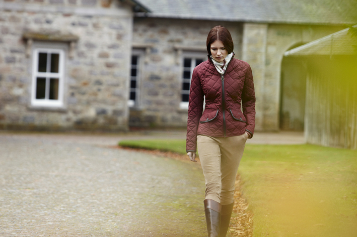 Barbour Ladies Horse Trials Collection - Model wearing the Stallion Quilt