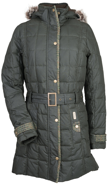Barbour Ladies Chevening Quilt Parka - Part of the Estate Tweed Range