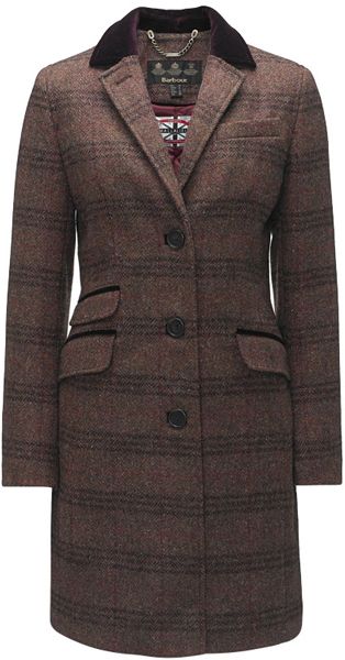 Barbour Ladies Stornoway Tweed Coat - Part of the Estate Tweed Range
