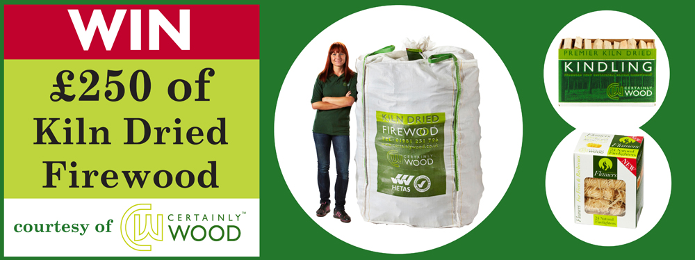 WIN £250 worth of Kiln Dried Firewood with our latest competition!