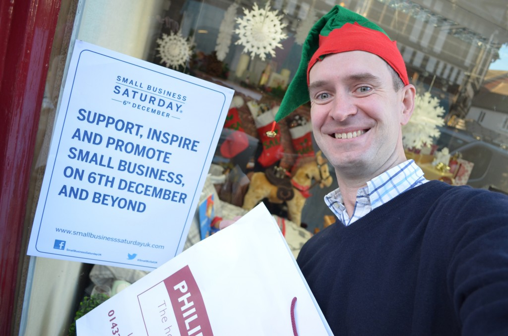 Managing Partner, John Jones, taking a #SmallBizSelfie to show his support for small local businesses