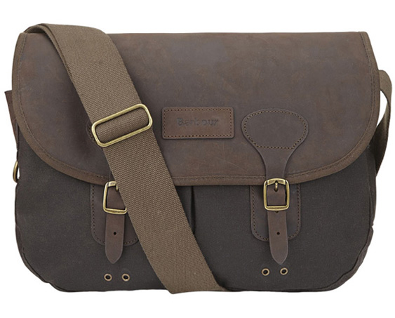 Barbour Wax Leather Tarras Bag as a great Christmas gift for him from Philip Morris and Son