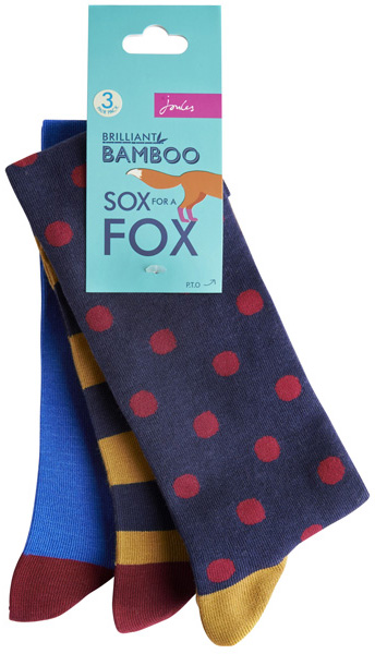 Joules Sox for a Fox as a great Christmas gift for him from Philip Morris and Son
