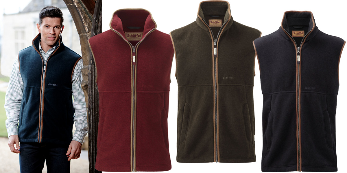 Schoffel Oakham Fleece Gilet as a great Christmas gift for him from Philip Morris and Son