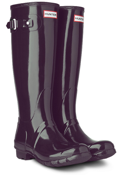 Hunter Original Gloss Wellington Boots as a gift for her - £95