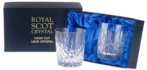 Royal Scot Crystal Whiskey Tumblers as a great Christmas gift for him from Philip Morris and Son