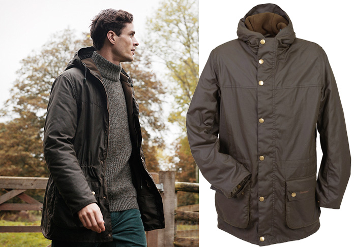 Barbour Winter Durham Jacket as a great Christmas gift for him from Philip Morris and Son