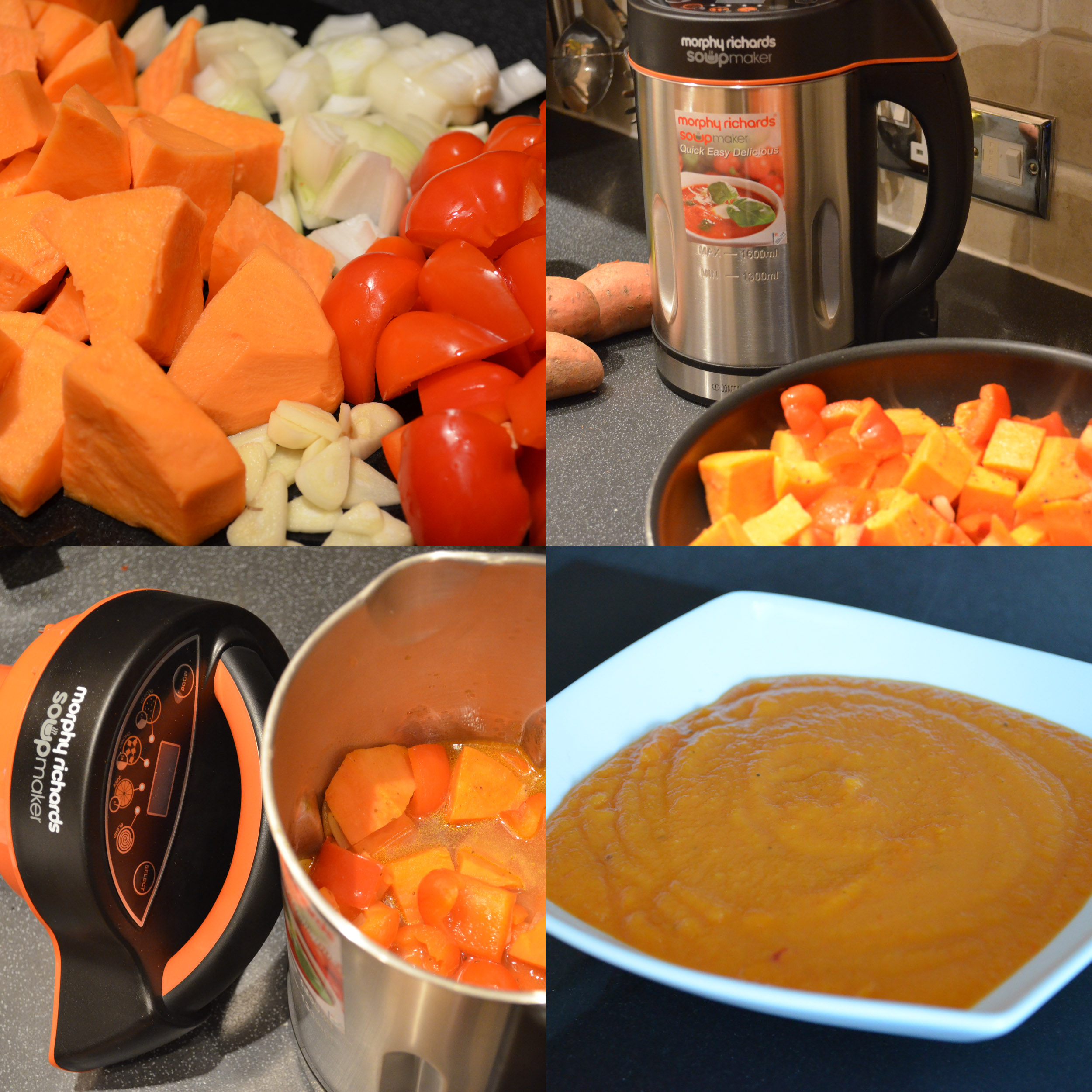 Sweet Potato & Red Pepper Soup in a Soup Maker