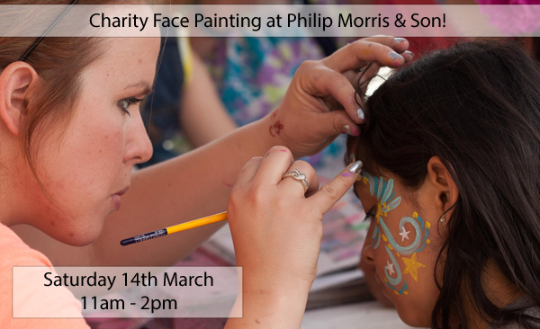 Face Painting for charity at Philip Morris
