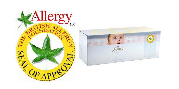Fogarty Ultracare Anti Allergy Cot Pillow available at Philip Morris and Son