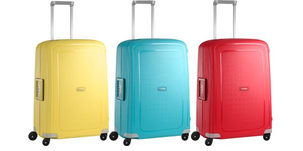 Samsonite S'Cure suitcase range at Philip Morris and Son
