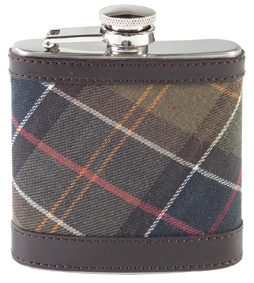 The Barbour Classic Hip Flask makes a perfect gift for Father's Day available from Philip Morris and Son