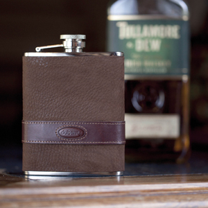 Spoil Dad this Father's Day with a Dubarry Leather Rugby Hip Flask available at Philip Morris and Son