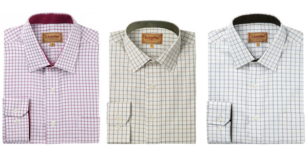 Dad will look extra dapper this year with a Schoffel shirt for Father's Day