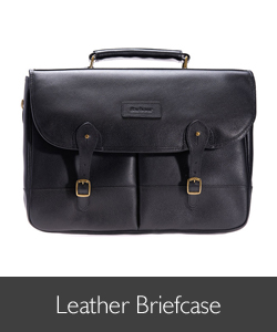 Barbour Leather Briefcase available at Philip Morris and Son