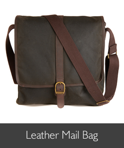 Barbour Leather Mail Bag available for AW15