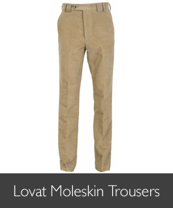 Barbour Lovat Moleskin Trousers for AW15